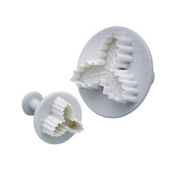 HOLLY LEAF PATTERN FONDANT PLUNGER CUTTERS