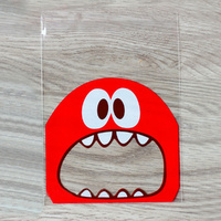 Red Monster Self Adhesive Bags 10cm - 25 Pack