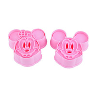 MINNIE & MICKEY MOUSE PLUNGER CUTTER 2PCS