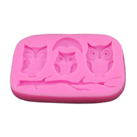 3 OWLS SILICONE MOULD
