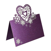 Purple Heart Name Card Pack Of 10