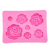 SILICONE 7 ROSE MOULD