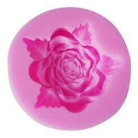 Silicone Rose With Leaf Mould