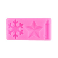 STAR-CANDLE-SNOW FLAKE SILICONE MOULD
