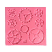 Medium Steampunk Gears Silicone Mould