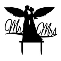 Acrylic Mr & Mrs Cake Topper 15cm