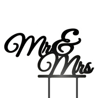 Acrylic Mr & Mrs Wedding Cake Topper