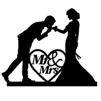 Acrylic Mr & Mrs Cake Topper 13cm