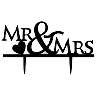 Acrylic Mr & Mrs Cake Topper 16.7cm