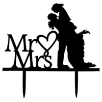 Acrylic Mr & Mrs Cake Topper 14.9cm