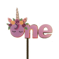 Acrylic  One Cake Topper