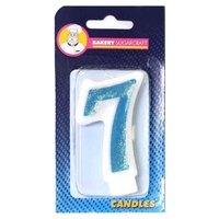 GLITTER BLUE CANDLE - 7
