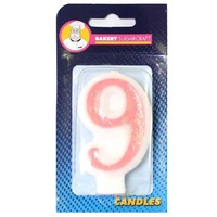 GLITTER PINK CANDLE - 9