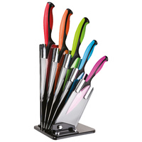 TAYLORS 5PC DEXTERITY FAN NON STICK KNIFE BLOCK SET