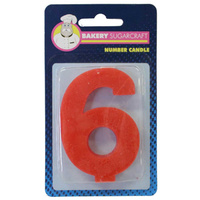 PLAIN NUMBER CANDLE - 6