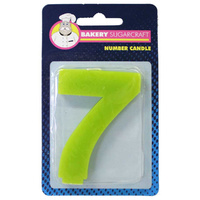 PLAIN NUMBER CANDLE - 7