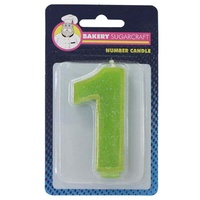 Glitter Numeral Candle - 1