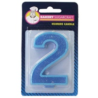 Glitter Numeral Candle - 2