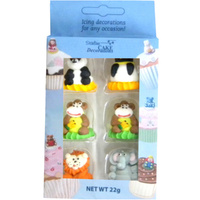 3D ASSORTED ZOO ANIMALS BOX OF 6