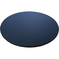 Gobake Cake Card Round Masonite 4mm Black - 6 Inch