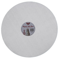 Gobake Cake Card Round Masonite 4mm Silver - 14 Inch
