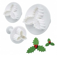 Holly Leaf Plunger Cutters 3Pcs