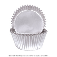 Cake Craft Silver Foil Baking Cups Pack Of 72
