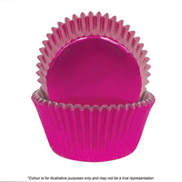 Cake Craft Pink Foil Baking Cups Pack Of 72