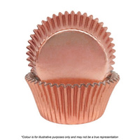 Cake Craft 408 Rose Gold Foil Baking Cups 72 Pack