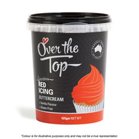 Over The Top Buttercream 425g Red