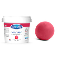 Satin Ice Coral Red Vanilla Fondant - 1kg