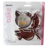 DEXAM CAT & MOUSE COOKIE CUTTER SET