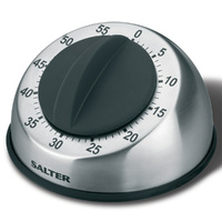 Salter Mechanical Timer Stainless Steel