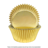 Cake Craft 408 Gold Foil Baking Cups 72 Pack