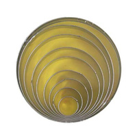CUTTER SET - ROUND SHAPES 11CM TIN SET OF 8
