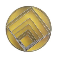 CUTTER SET - SQUARE SHAPES 10CM TIN SET OF 7
