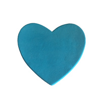 Gumpaste Hearts Large Blue