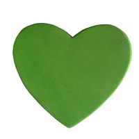Gumpaste Hearts Large Green