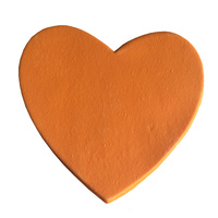 Gumpaste Hearts Large Orange