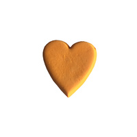 Gumpaste Hearts Medium Orange