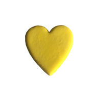 Gumpaste Hearts Medium Yellow