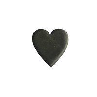 Gumpaste Hearts Small Black
