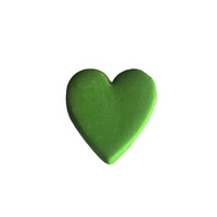 Gumpaste Hearts Small Green