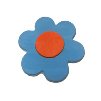 Gumpaste Flat Bright Flower Medium Blue