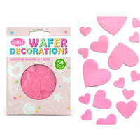Quality Sprinkles Wafer Pink Hearts