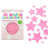 Quality Sprinkles Wafer Pink Stars