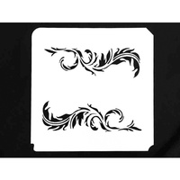 FEATHER SCROLL STENCIL