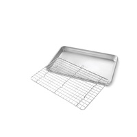 USA Pan Quarter Sheet Nonstick Cooling Rack and Pan Set