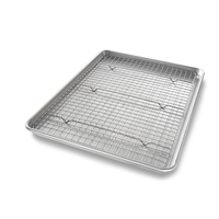 USA Pan Half Sheet Nonstick Cooling Rack and Pan Set