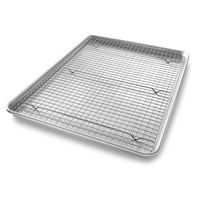 USA Pan Extra Large Bakeable Nonstick Cooling Rack and Pan Set